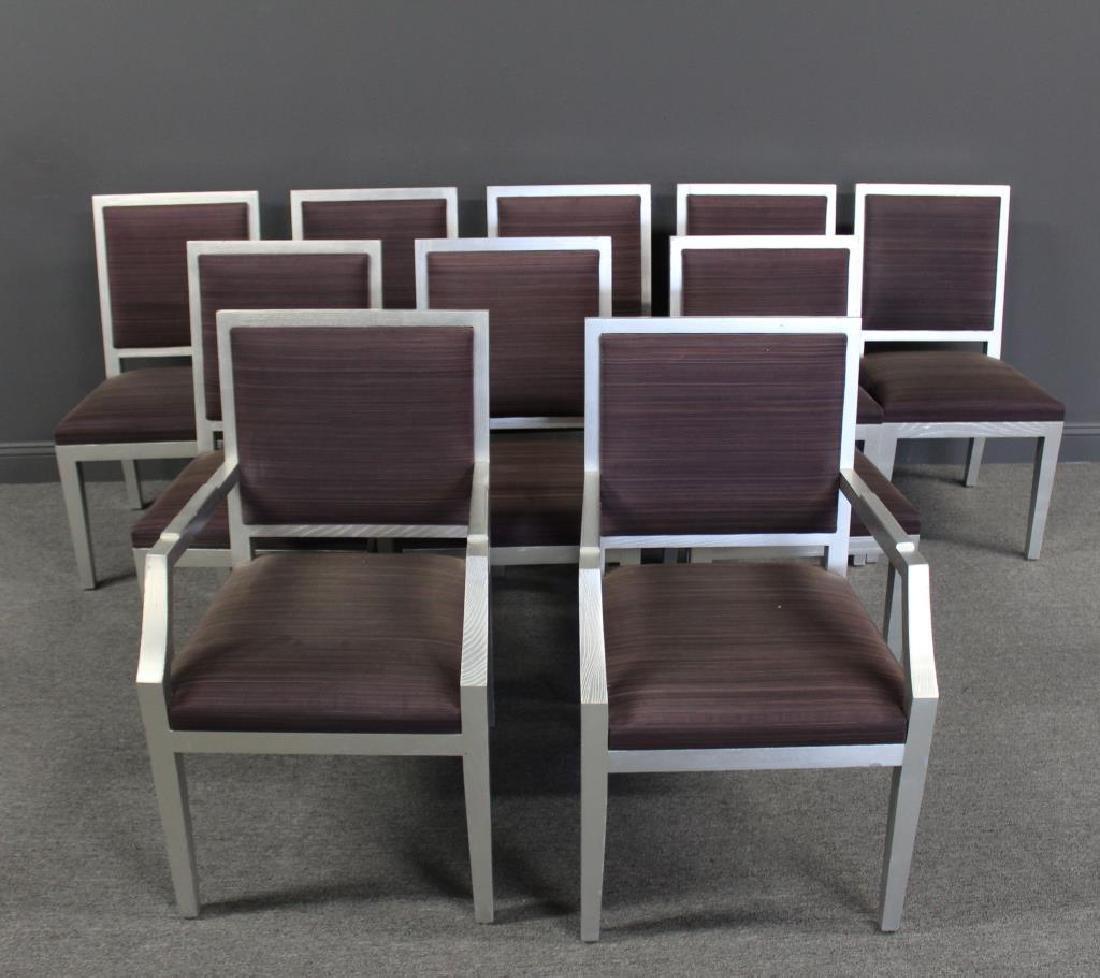 10 Christian Liagre / Holly Hunt Silver Gilt Chair