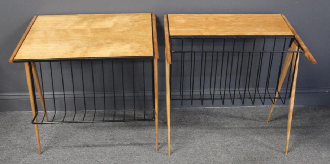 A Pair of Arthur Umanoff Magazine Racks.