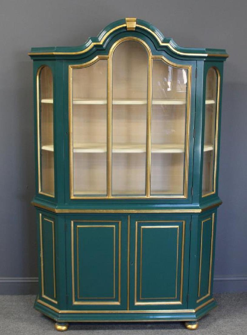 Quality Paint and Gilt Decorated China Cabinet.