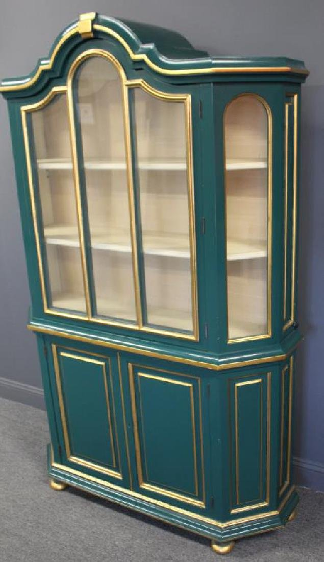 Quality Paint and Gilt Decorated China Cabinet. - 2