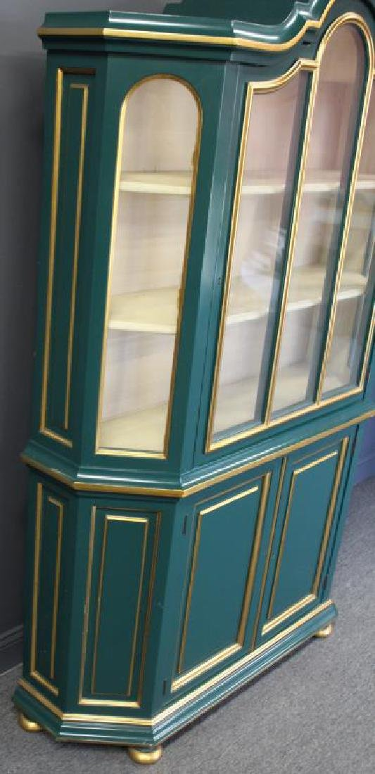 Quality Paint and Gilt Decorated China Cabinet. - 3