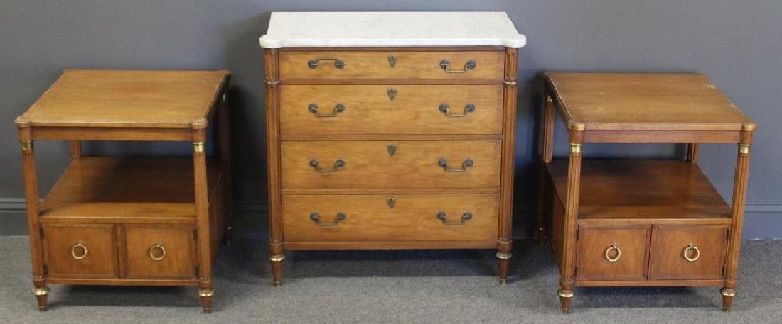 BAKER. Louis Philippe Style Marbletop Chest.