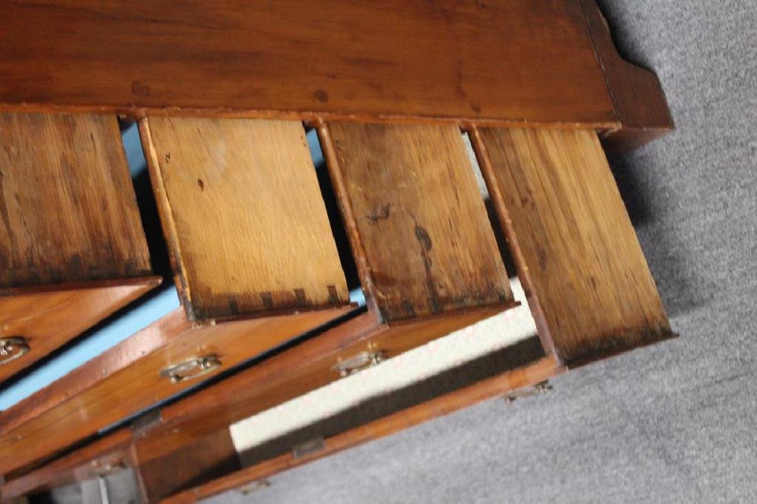 Antique Cherry Wood American Chest. - 3