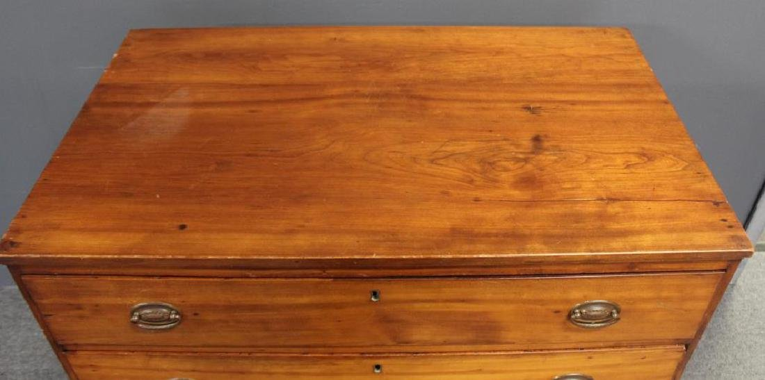 Antique Cherry Wood American Chest. - 4