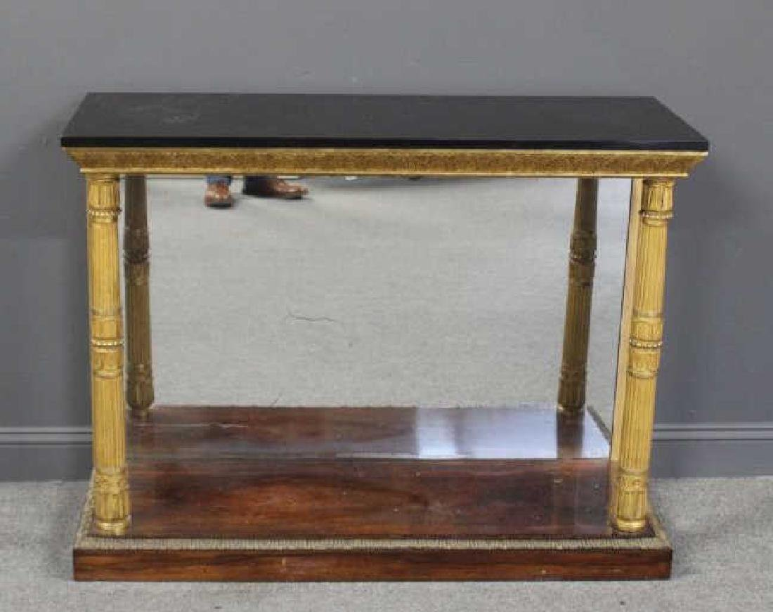 Antique Empire Style Mirror Back Console with