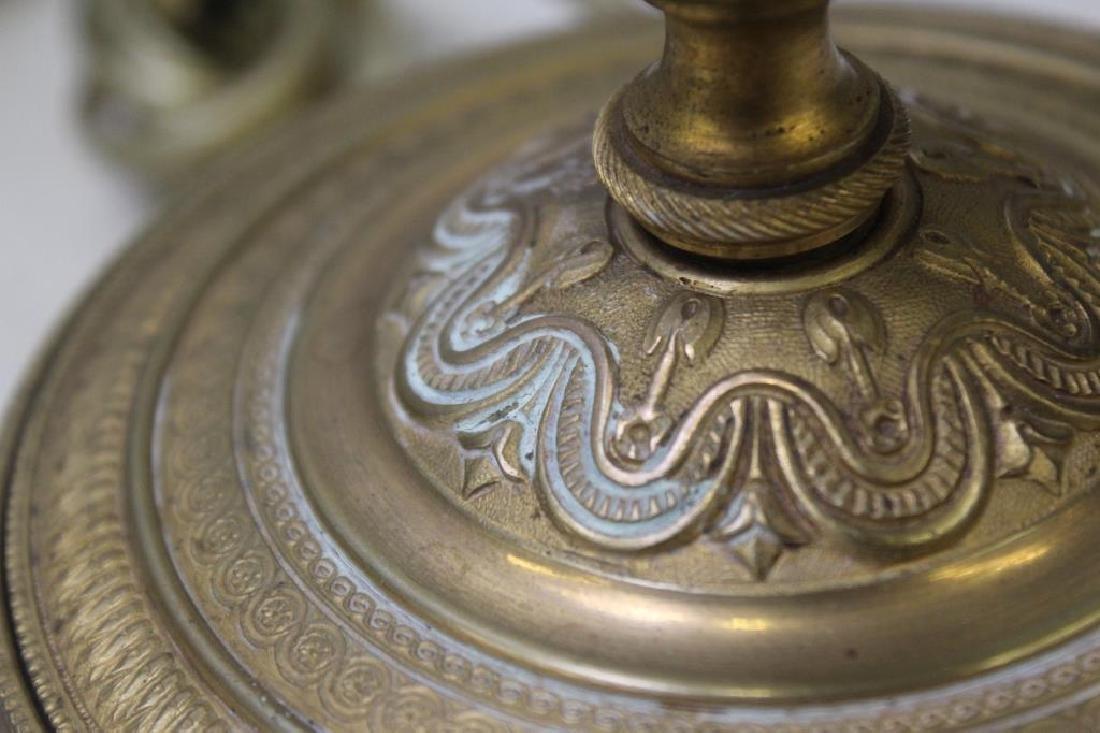 An Antique Pair of Gilt Bronze and Cut Glass - 4