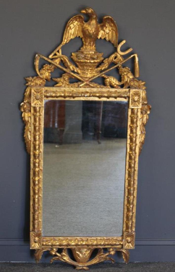 Antique and Finely Carved Giltwood Mirror with