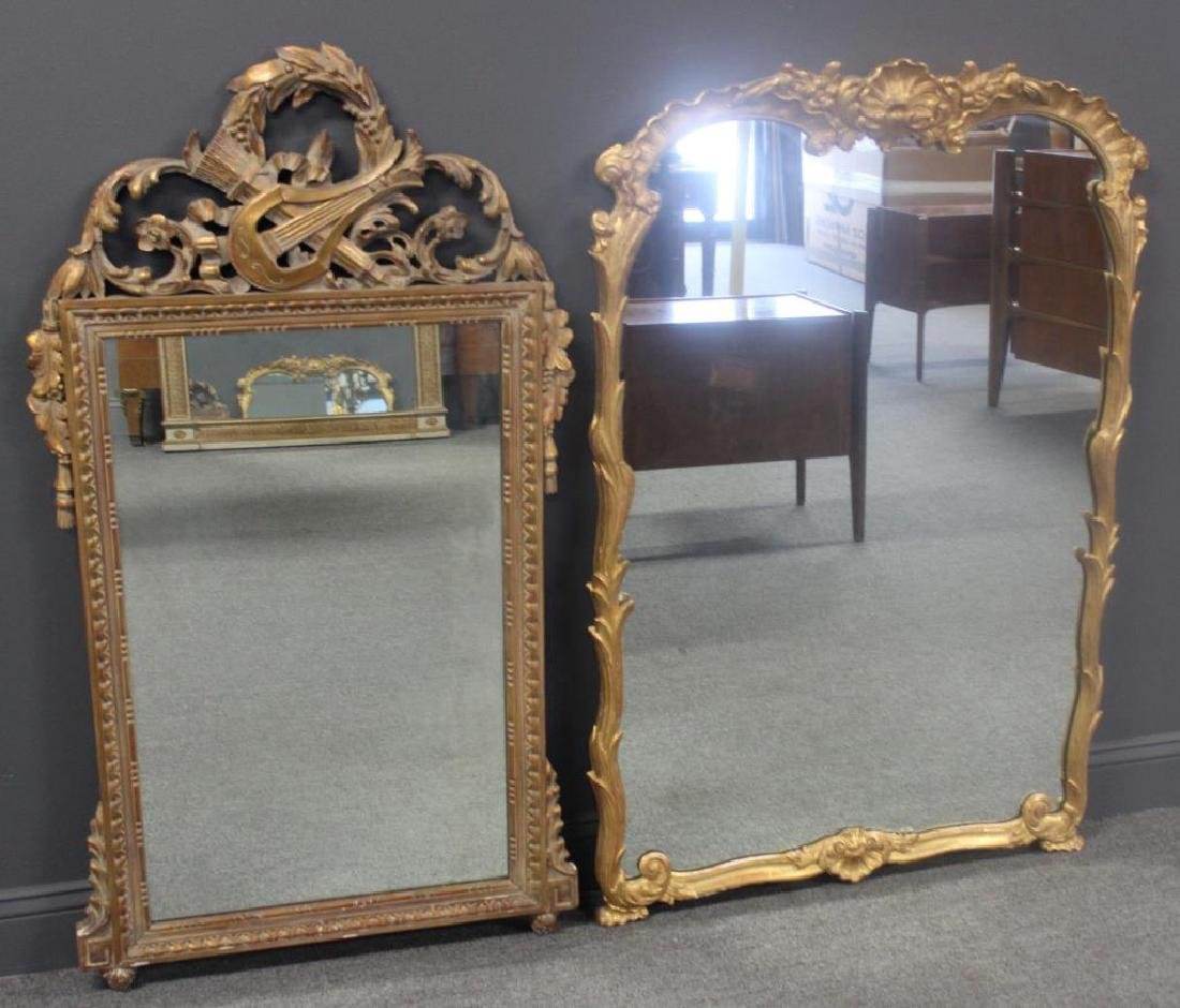 2 Antique Carved Wood Mirrors To Inc,