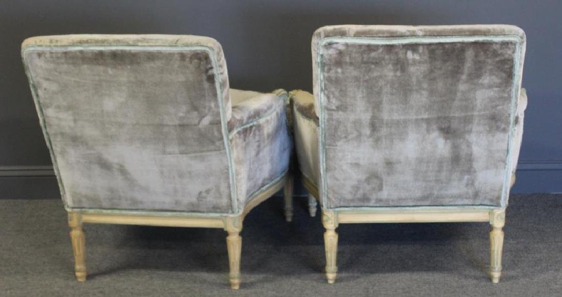 Pair of Down Filled Louis XVI Style Arm Chairs. - 4