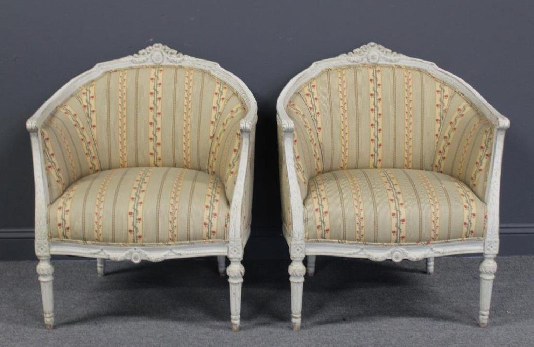 Pair of Vintage and Quality Louis XV Style Bergere