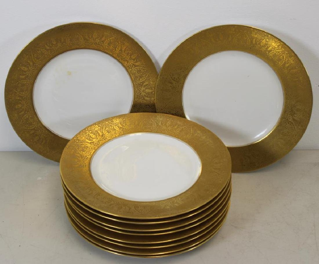 HEUTCHENREUTHER. Set of 10 Gilt Trim