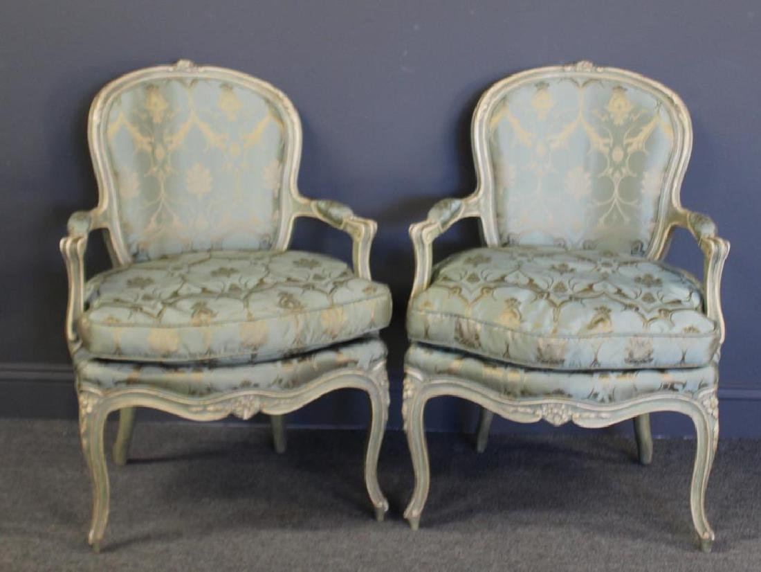 Pair of Vintage and Quality Louis XV Style Arm