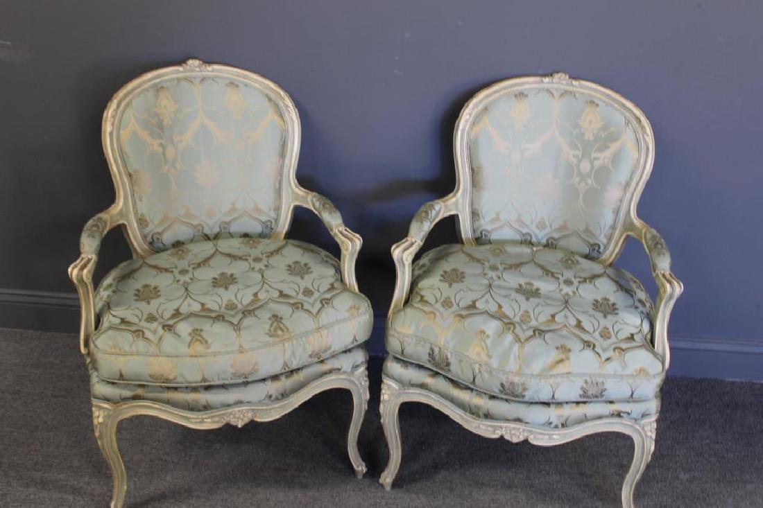 Pair of Vintage and Quality Louis XV Style Arm - 2