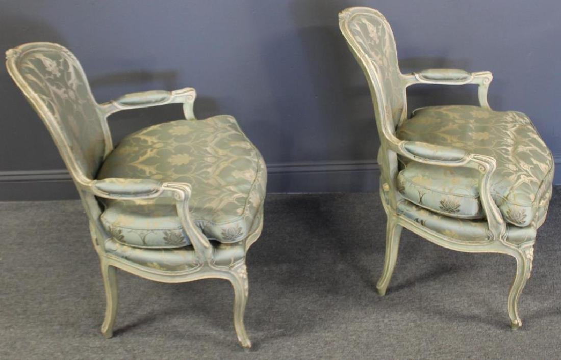 Pair of Vintage and Quality Louis XV Style Arm - 3