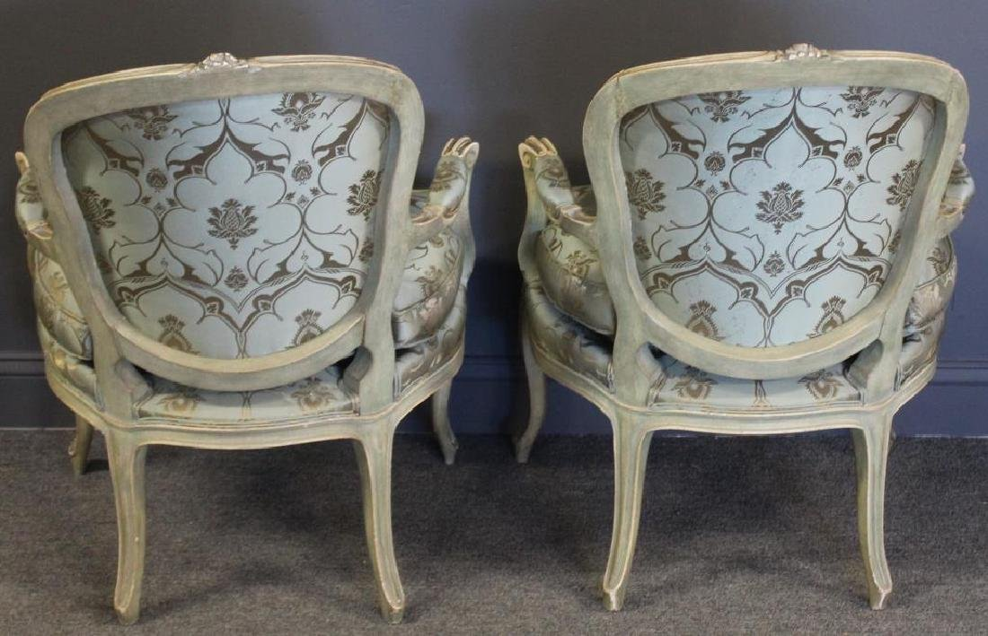 Pair of Vintage and Quality Louis XV Style Arm - 4