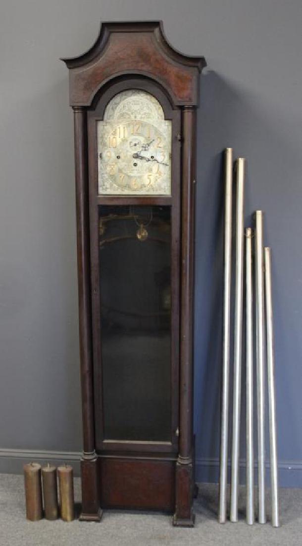 Antique Mahogany Tallcase Clock.