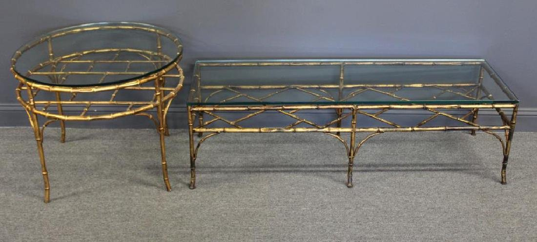Lot of 2 Gilt Metal Tables.