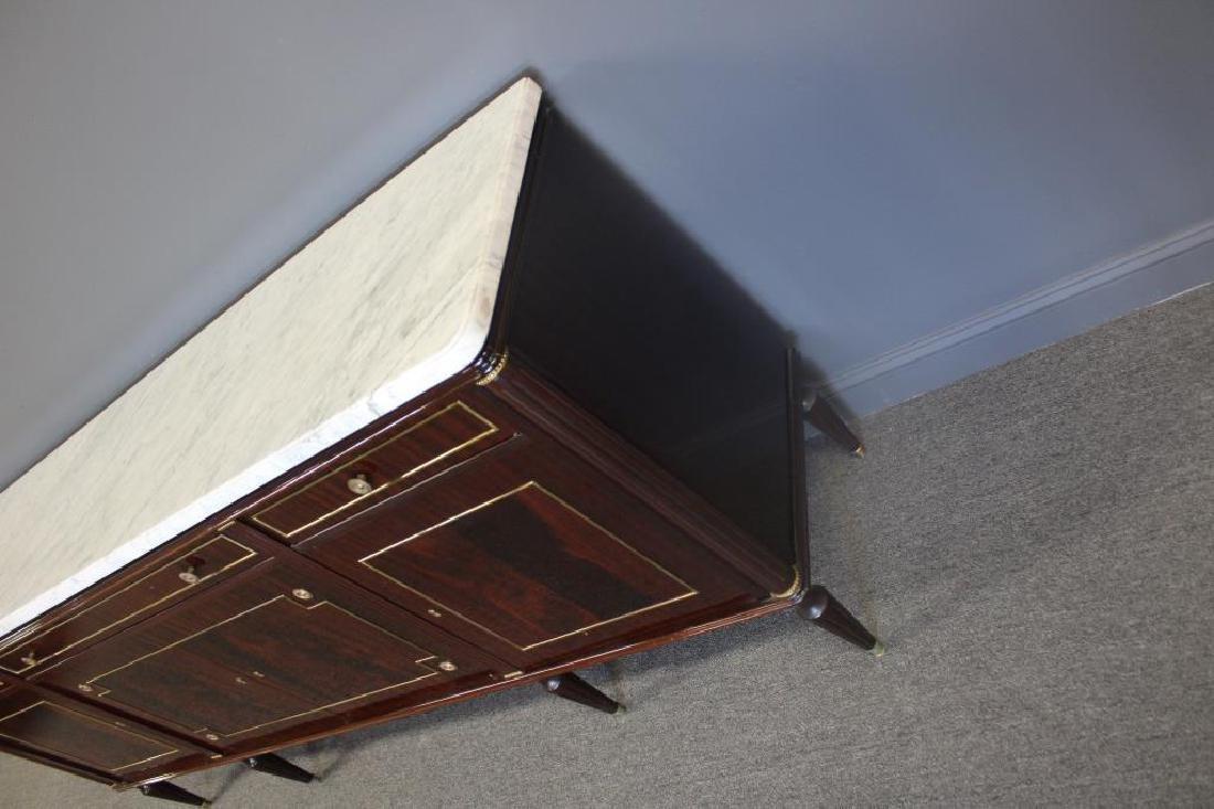 Louis XV1 Style Mahogany Marbletop Server . - 2