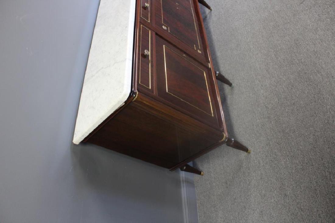 Louis XV1 Style Mahogany Marbletop Server . - 3