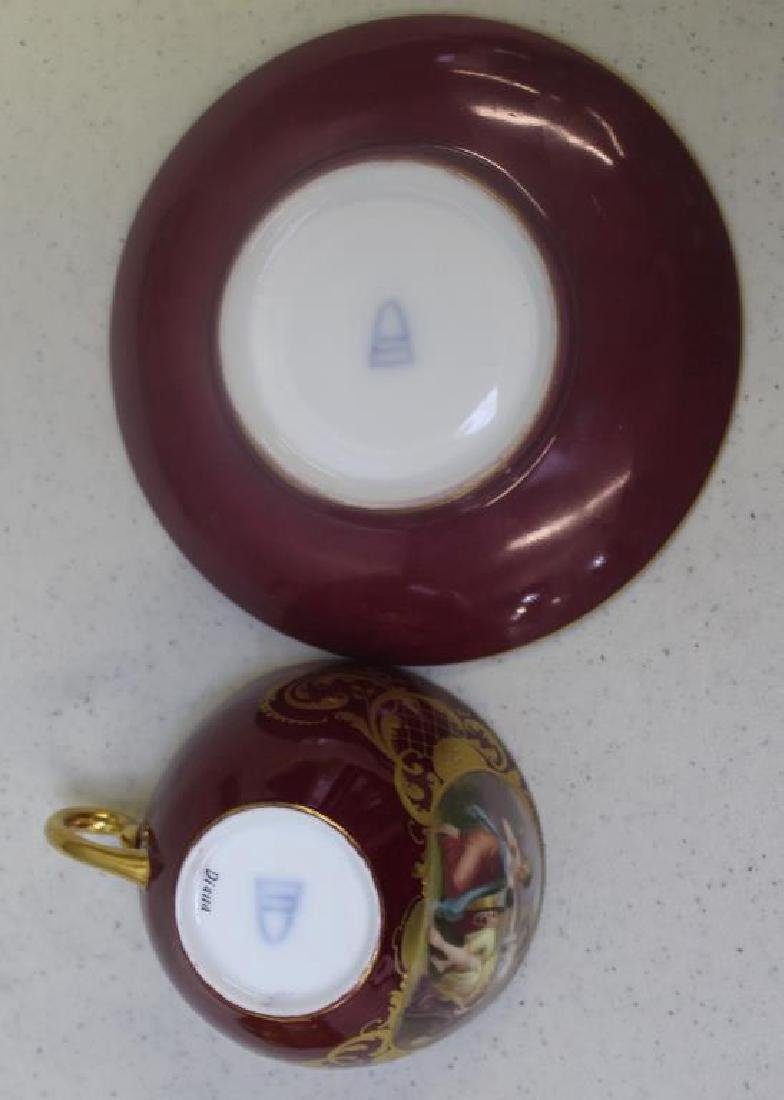 Crown Staffordshire Gilt Porcelain Cups and - 6