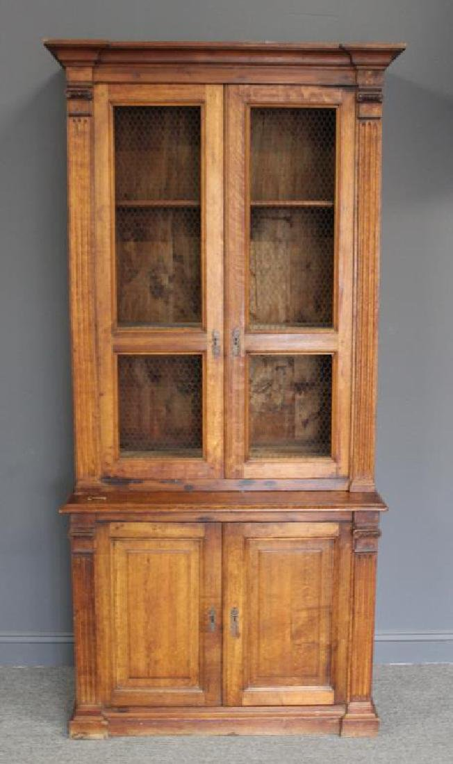 Antique Oak 2 Piece Bibliotheque.