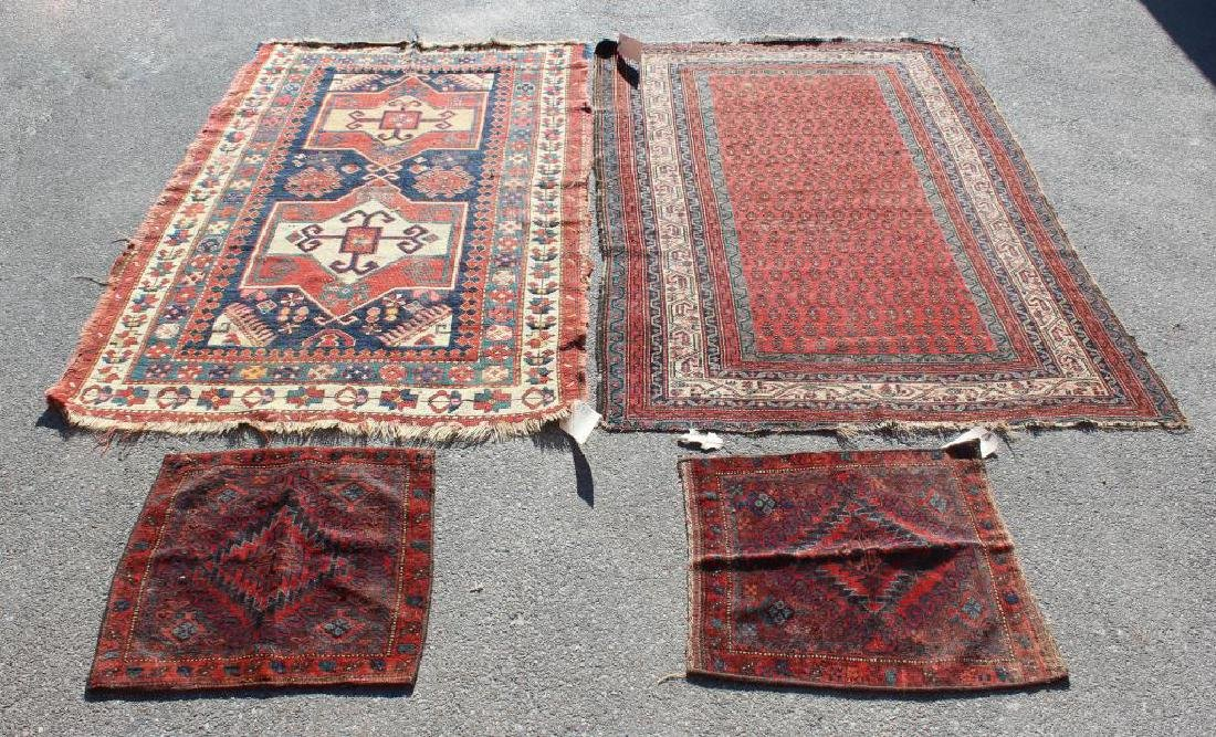 Lot Of Antique Finely Handwoven Area Carpets and 2