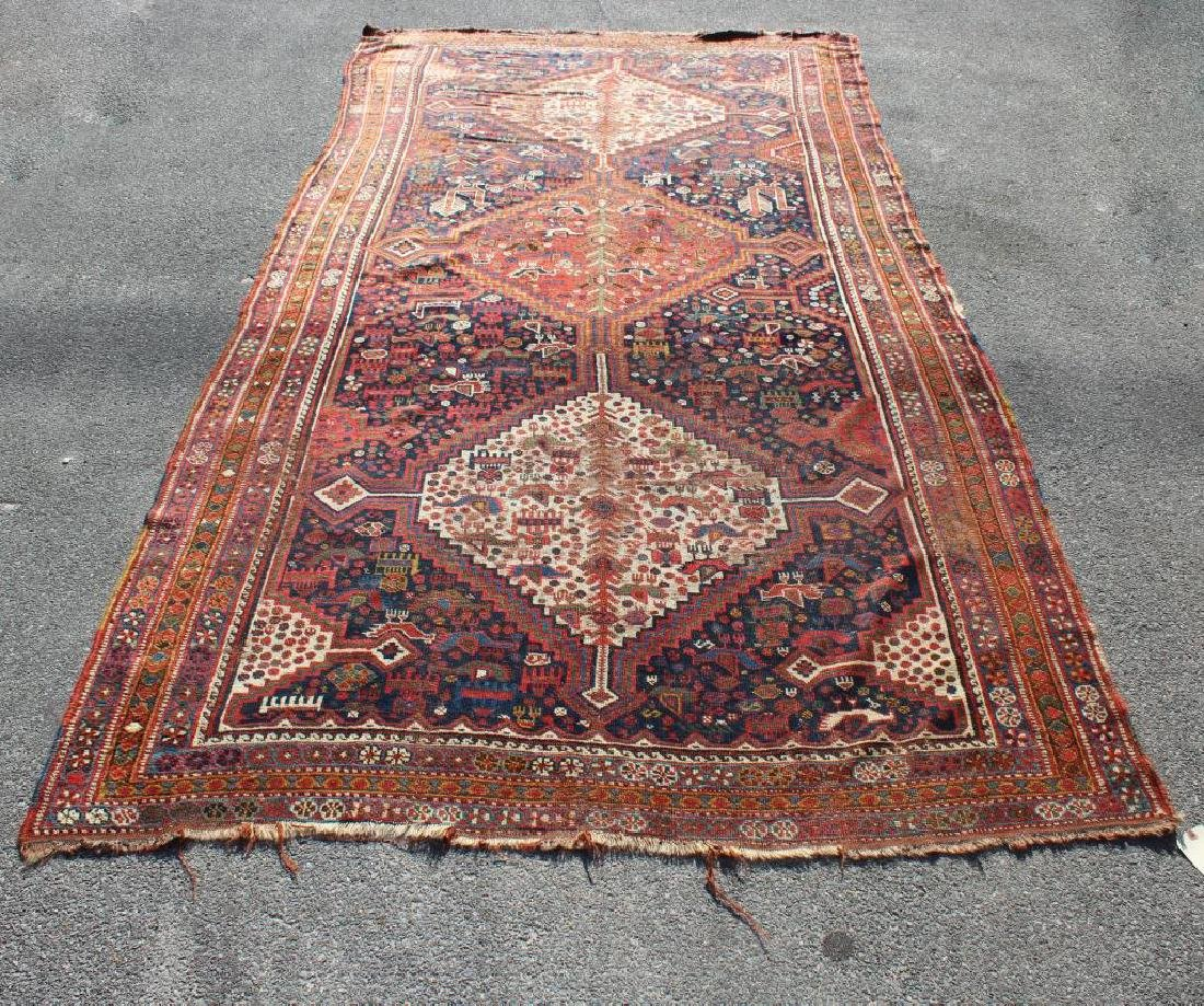 Antique and Finely Handwoven Kazak Style Carpet