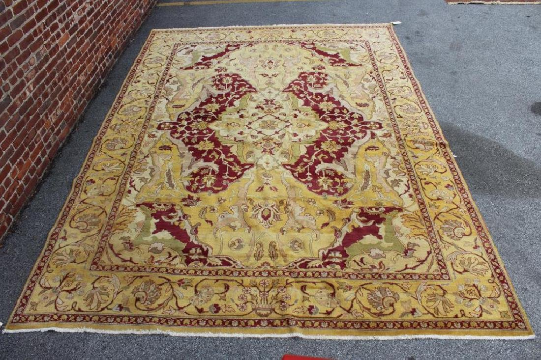 Vintage and Finely Handwoven Roomsize Carpet.