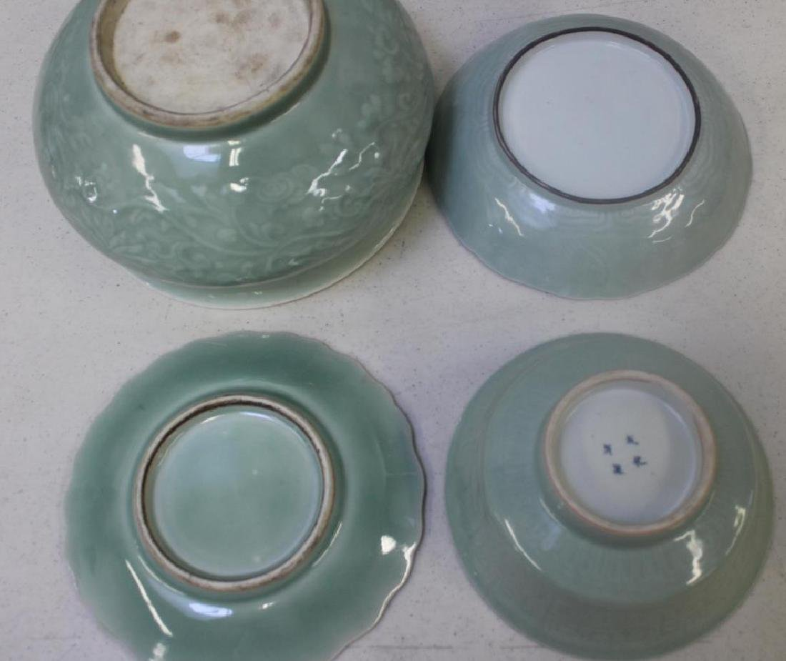 Grouping Of Enamel Decorated and Plain Celadon - 6