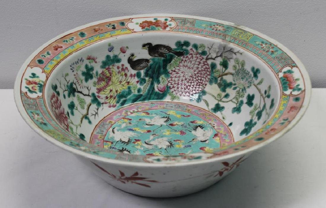 Large19 Century Canton Enameled Bowl