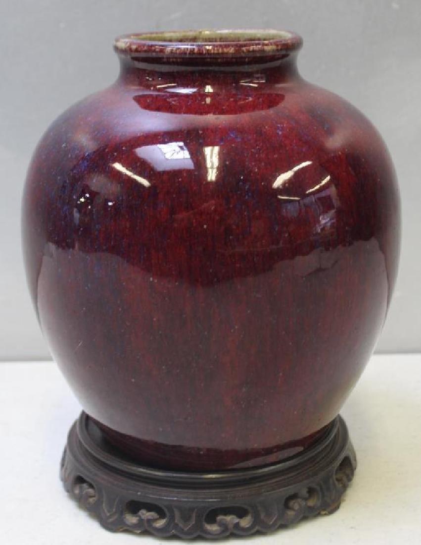 Antique Chinese Sang De Boeuf Glazed Vase. - 6