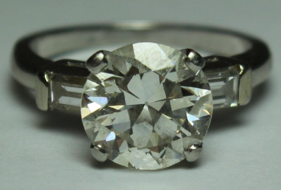 JEWELRY. GIA Cert. 2.2ct Diamond Engagement Ring.