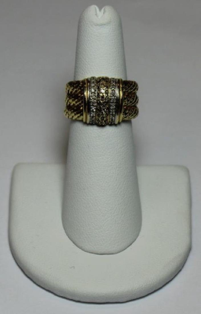 JEWELRY. David Yurman 18kt Gold and Diamond Ring.