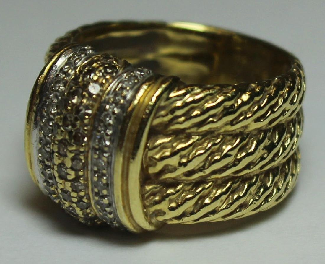 JEWELRY. David Yurman 18kt Gold and Diamond Ring. - 3