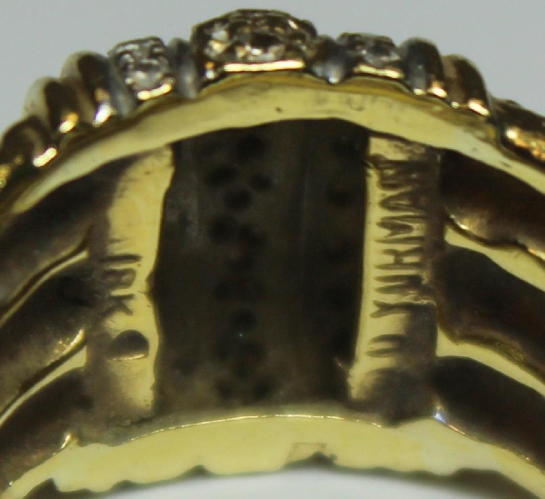 JEWELRY. David Yurman 18kt Gold and Diamond Ring. - 5