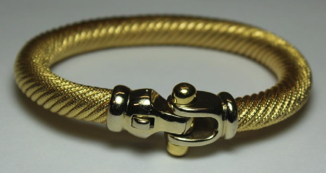 JEWELRY. Italian 18kt Gold Cable Bracelet.