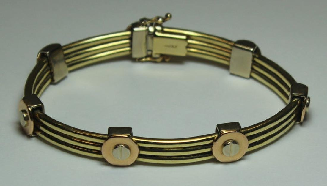 JEWELRY. Italian 14kt Gold Bracelet.