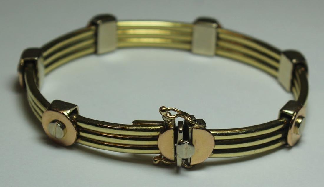 JEWELRY. Italian 14kt Gold Bracelet. - 2