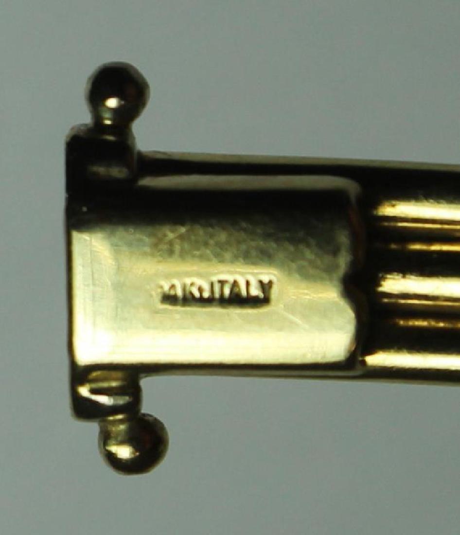 JEWELRY. Italian 14kt Gold Bracelet. - 3