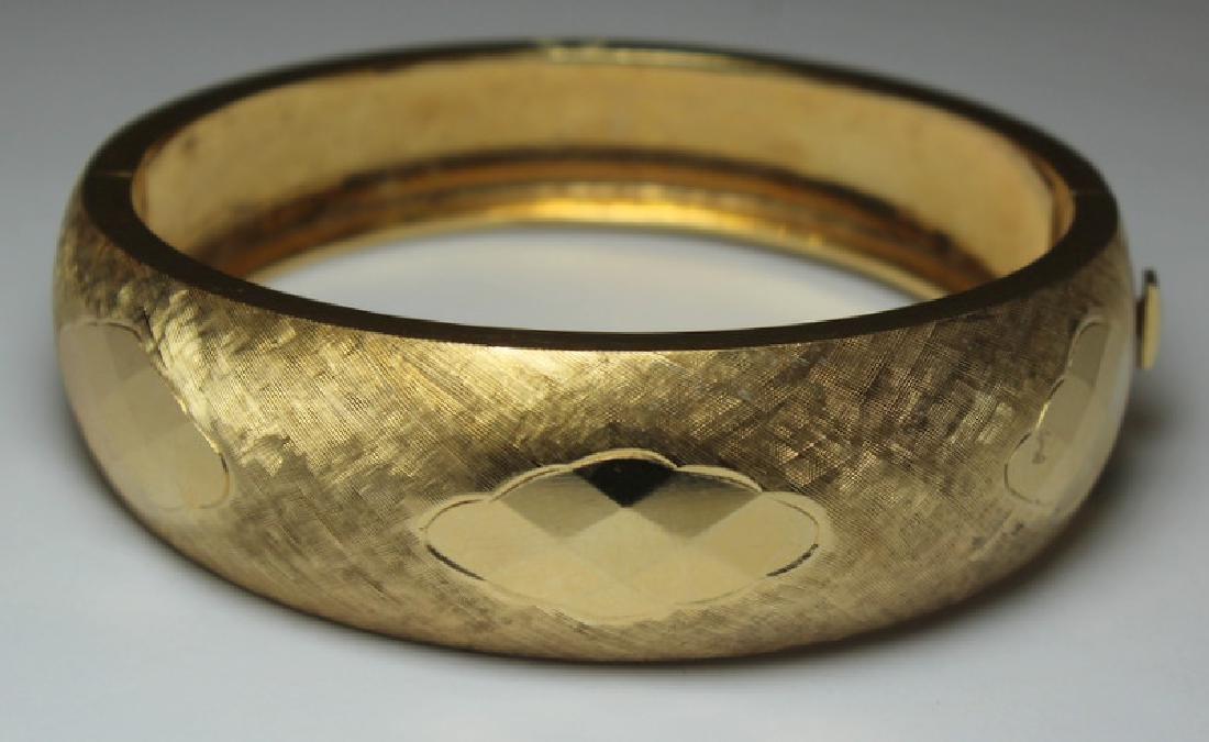 JEWELRY. Signed 14kt Gold Bracelet.