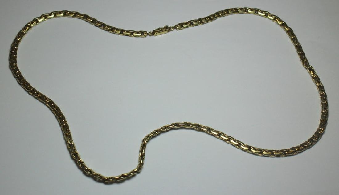 JEWELRY. Italian 14kt Link Gold Necklace.