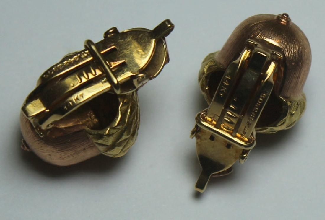 JEWELRY. Buccelatti STYLE 14kt Gold Acorn Form Ear - 2