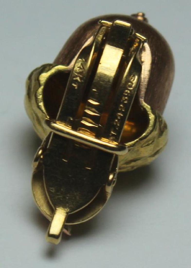 JEWELRY. Buccelatti STYLE 14kt Gold Acorn Form Ear - 3