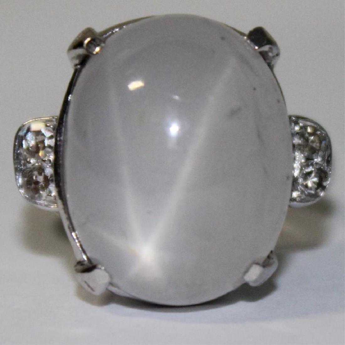 JEWELRY. Platinum, Star Sapphire, and Diamond