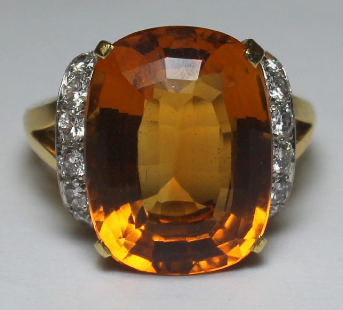 JEWELRY. Tiffany & Co. Platinum, 18kt Gold, Topaz,