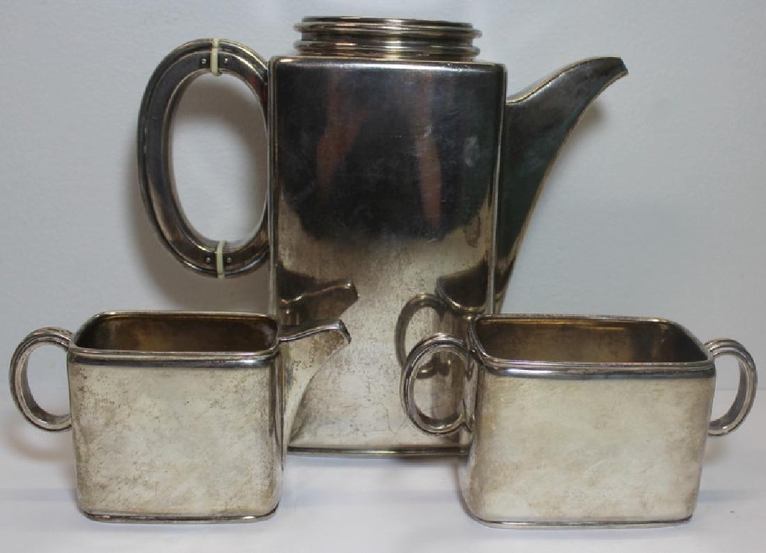 SILVER. Frithjoj Bratland (3) Pc. .830 Silver Tea