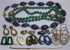 JEWELRY Assorted Ladies Jewelry Grouping Inc Gold