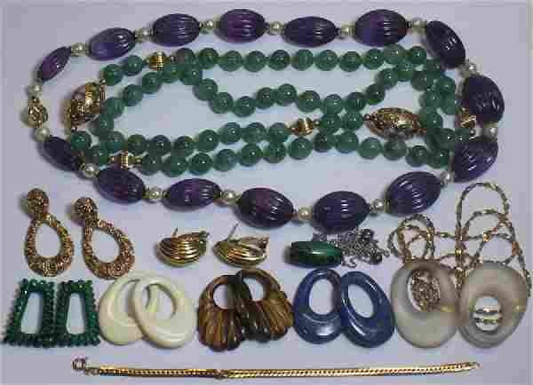 JEWELRY. Assorted Ladies Jewelry Grouping Inc Gold
