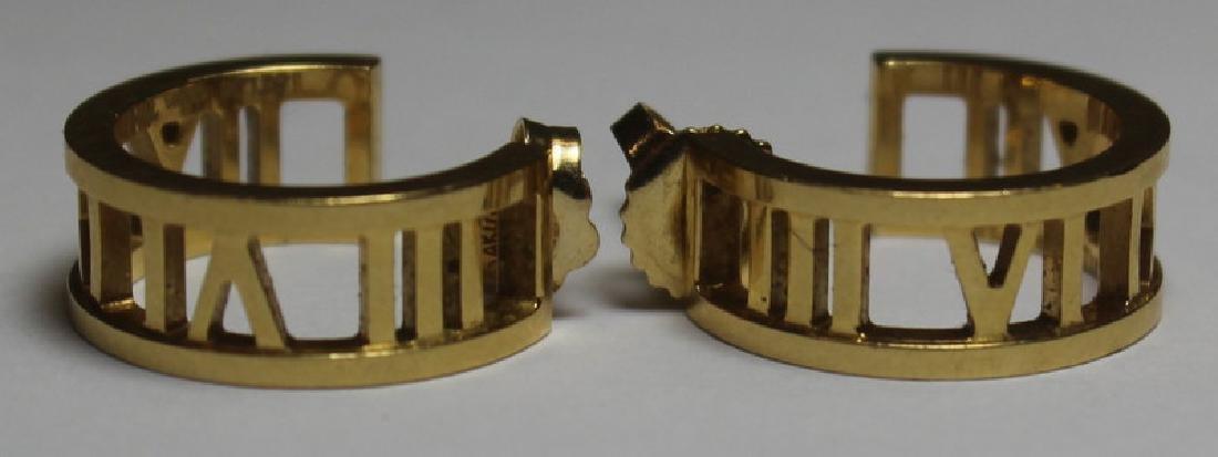 JEWELRY. Tiffany & Co. Atlas 18kt Gold Earrings.