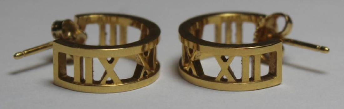 JEWELRY. Tiffany & Co. Atlas 18kt Gold Earrings. - 2